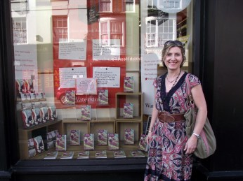 Outside Waterstones, Newport, Jul 2013