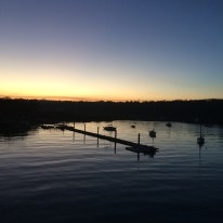 Evening at Fishbourne Ferry Port
