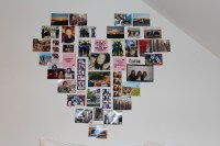 Decorate Your Room  Heart Collage Wall