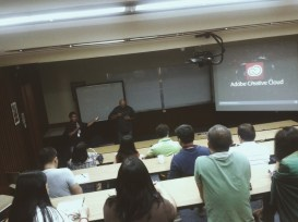 Tuesday. Attended Adobe Creative Cloud's end user session with my colleagues. ANG GALING GUYS. Pero I am most amazed with the shake reduction feature of Photoshop CS6. No more blurred photos! Very pasmado-friendly.
