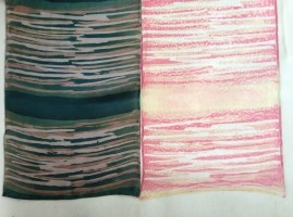 Scarf showing its steaming paper