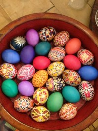 Collection of decorated eggs from Bavaria