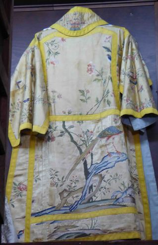 Chinese (?) inspired ecclesiastical vestment, Santa María Mayor, Ronda. No information was available on this interesting collection of garments
