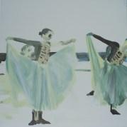 """""""Bleu"""" acrylique sur toile, 2012, 50x50cm"""