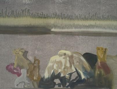 """""""Balançoire"""" acrylique sur toile, 54x41cm, 2011"""