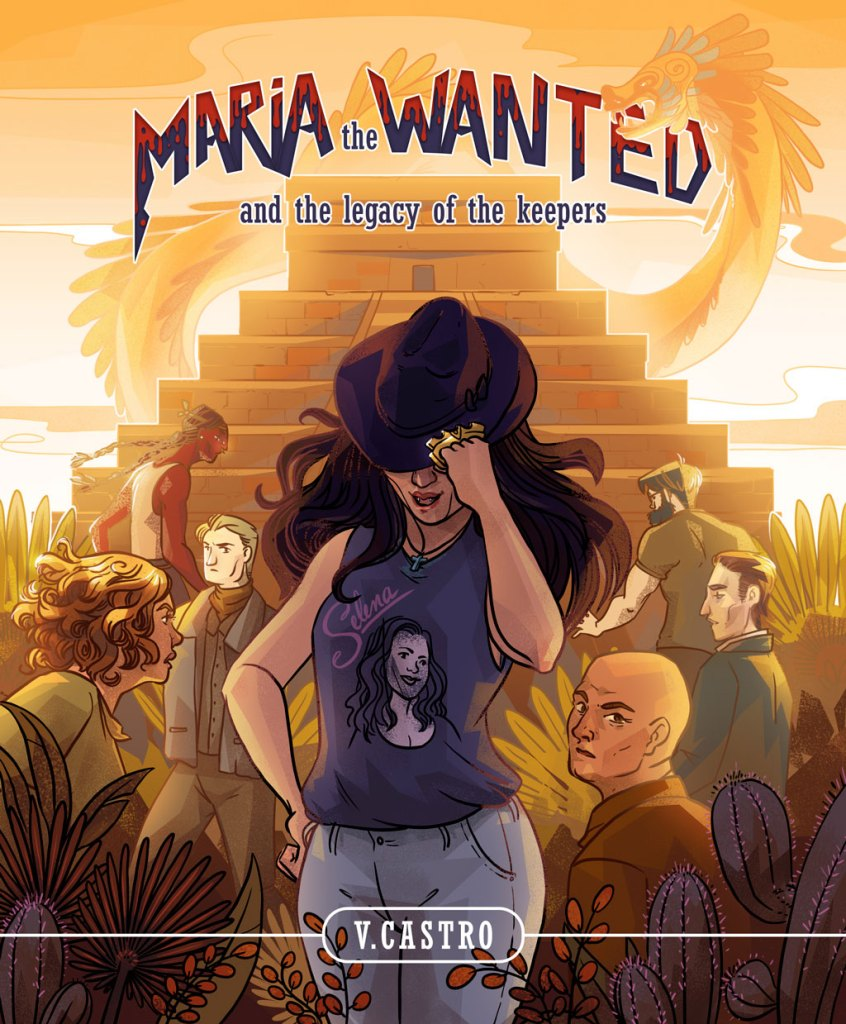 book cover illustration isabelle arne Maria the wanted v castro