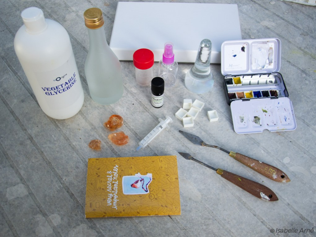 tools for home made watercolor
