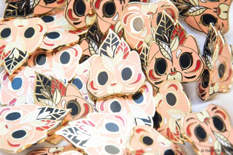 creating cat mask pins
