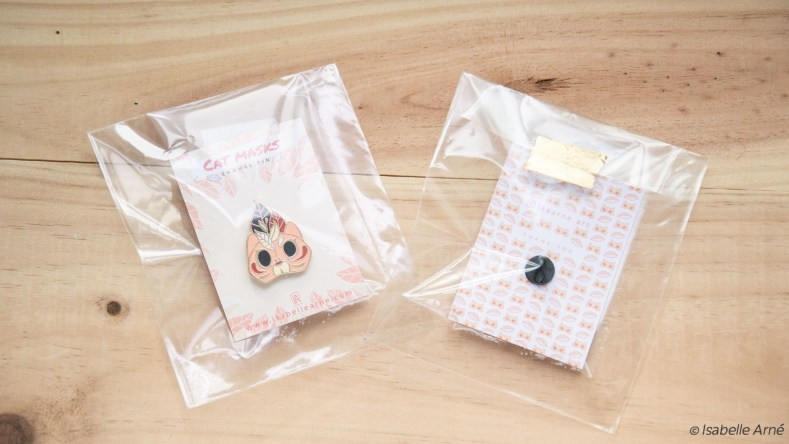 cute cat mask enamel pin for convention