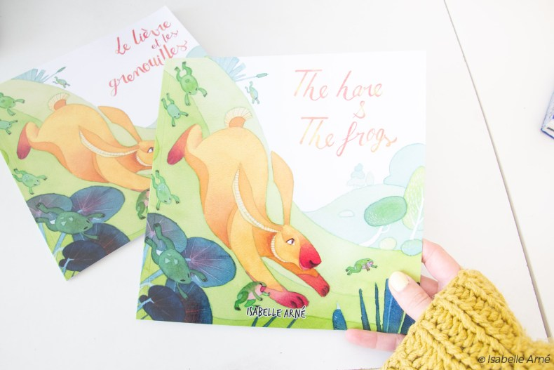 the hare and the frog, a children book story can help you Build a children book portfolio.