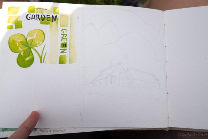 outdoor sketching mountain barns