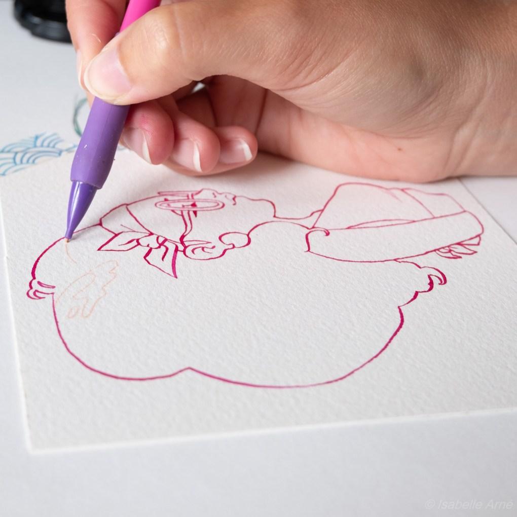 watercolor illustration illustrator isabelle arne