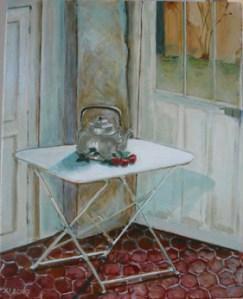 """oil on canvas """"le cabaret du lys"""""""