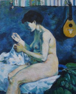 "oil on canvas ""une copie de Gauguin"""
