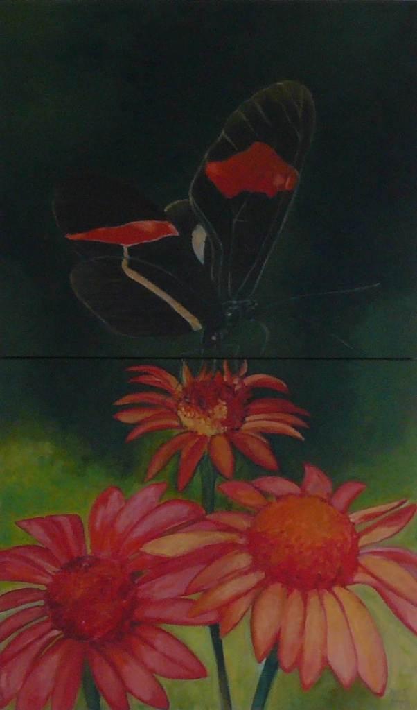 "oil on canvas ""étude papillon 2"""
