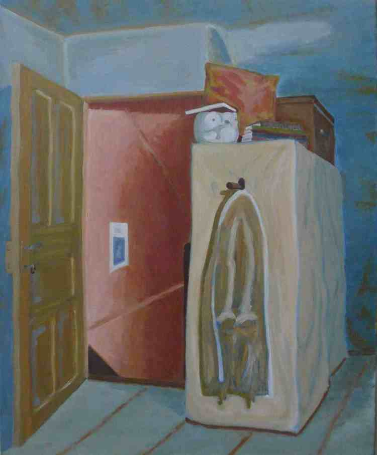 """oil on canvas """"souvenir de la clepsydre"""""""