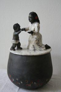 boite souvenirs maman-enfant en raku