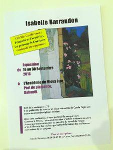 affiche expo 16sept carole