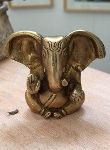 Ganesh en bronze, le modèle de Camille