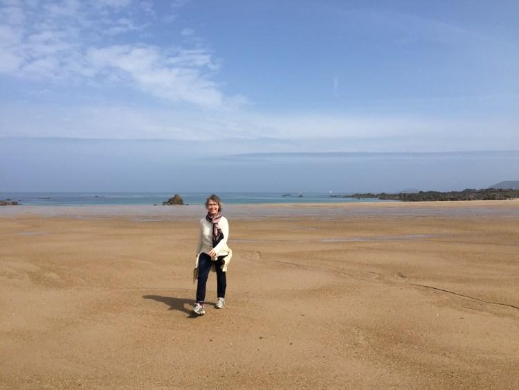 randonnée sur la plage et stage de modelage