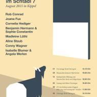 Kunst & Kultur im Schtadl - Flyer 2015