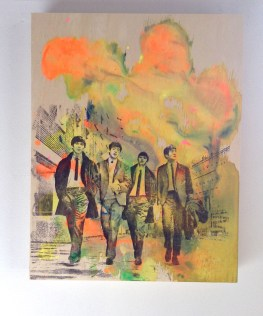 "11x14"" painting on wood to purchase: The Beatles"