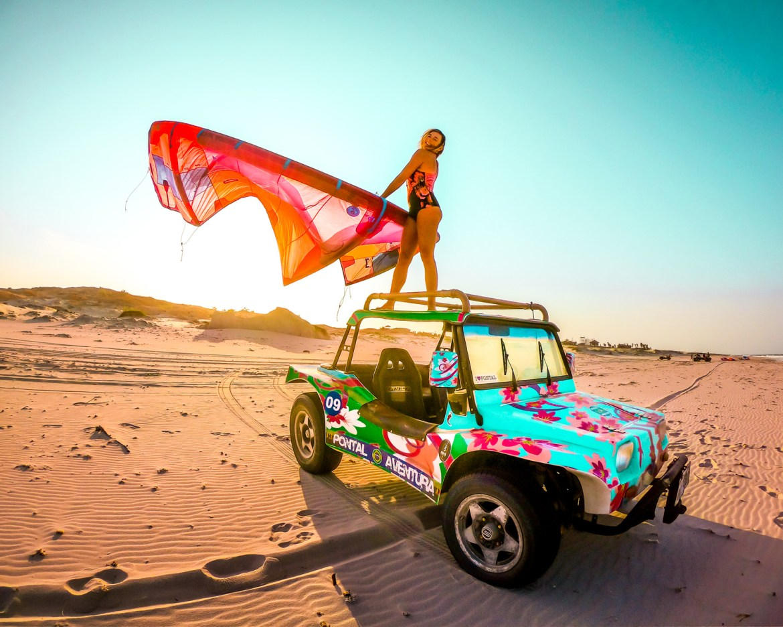 brésil voiture kite