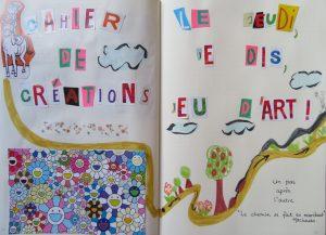 le cahier de créations