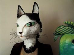 buste de chat noir et blanc