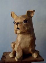 bouledogue assis (haut 55 cm)