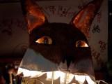 tête de renard, yeux escamotables