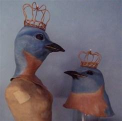 oiseau bleu couronné