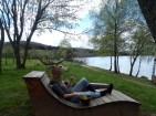 masque de cerf . lac de Chamboux