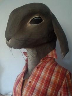 petit buste de lapin adaptable sur mannequin sans tête