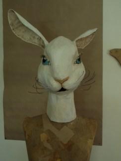 lapin blanc / face