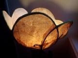 abat jour fleur, papier de soie