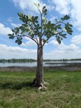 figuier en papier , 6 branches en place
