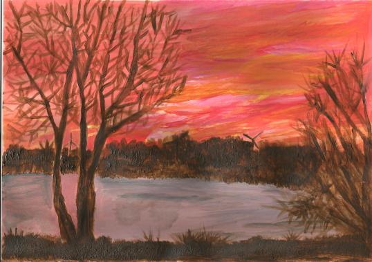 Sunset Tree - Acrylic