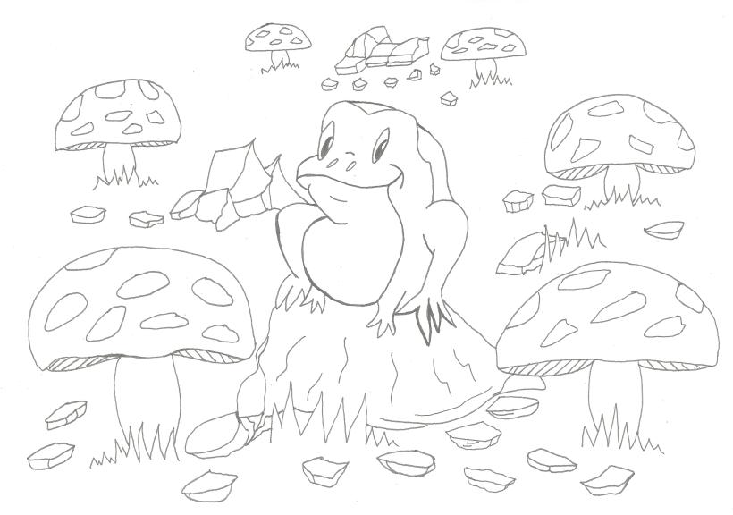 froggy line art better