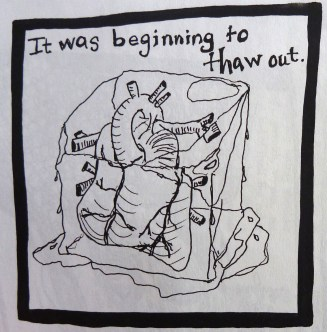 Panel from comic in Bacon 1.
