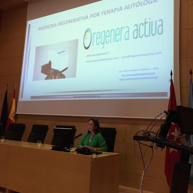 Dra. Elena Ruperez en su ponencia sobre Protocolo Rigenera®