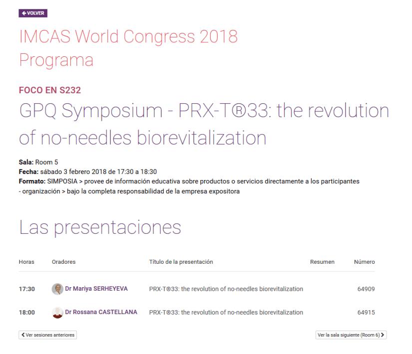 IMCAS World Congress 2018 en Paris