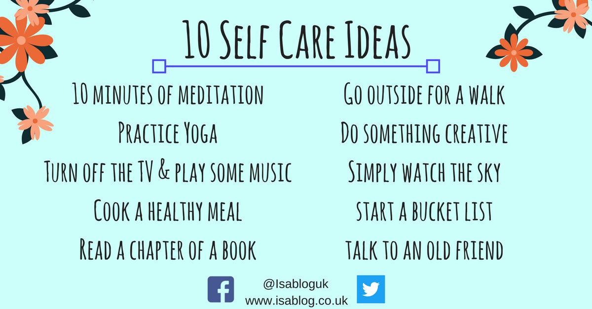 Self Care Tips to Help Promote Better Self Care
