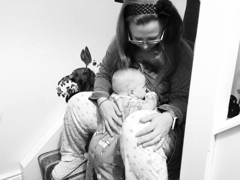 Here's a photo of my wife breastfeeding your baby. There was no cash Ito promote breastfeeding on this one