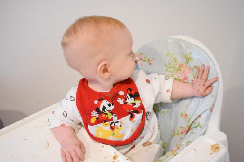 The IKEA Antilop highchair with Messy Me insert