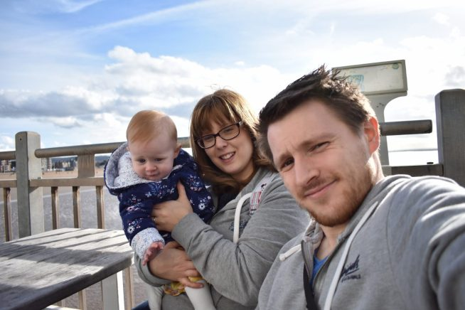 A family photo of us in Western on the Grand Pier