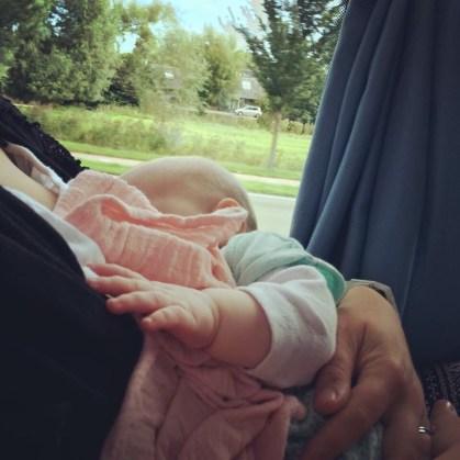 Breastfeeding in public on a bus to Amsterdam
