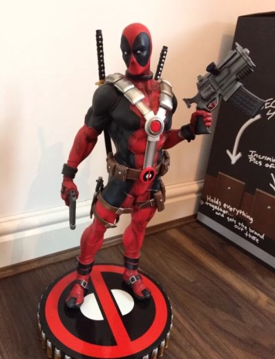 The Deadpool Premoum Format Figure that I sold to help us survive financially whilst on maternity leave