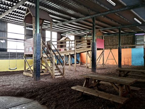 The indoor play area at Walnut Tree Farm Park
