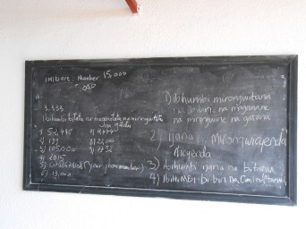 Our chalkboard at school after Kinyarwanda class. Kinyarwanda is a very difficult language but hardly any Rwandans will tell you that. And I thought Spanish was hard...